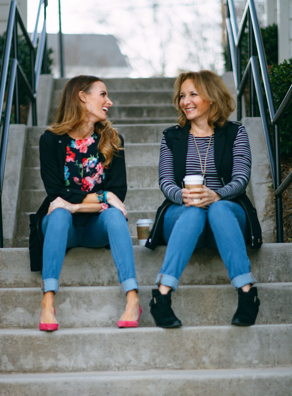 Mom and Me Style: Shapely Jeans and Utility Wear