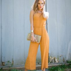 Orange Jumpsuit Fashion Blogger