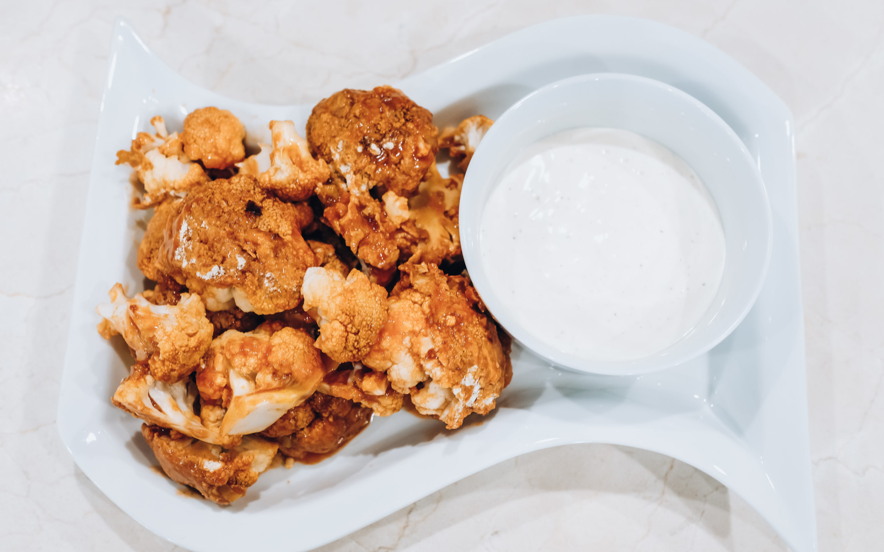 "Extra Healthy, Extra Spicy Buffalo Cauliflower ""Wings"""