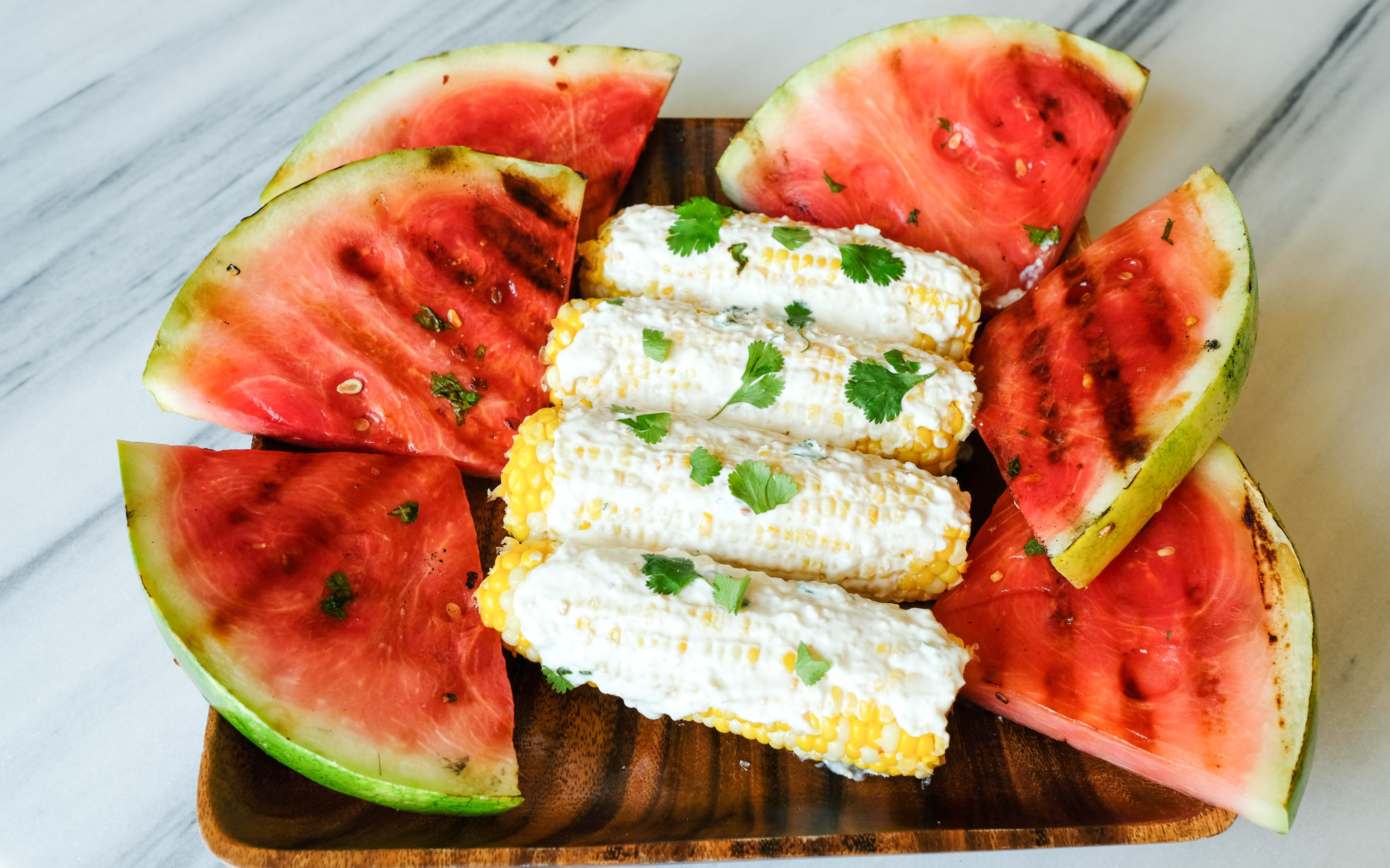 Mexican Street Corn + Watermelon on the Grill