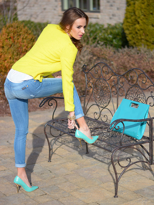 Teal an Yellow outfits
