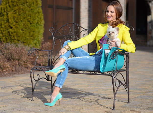 Spring Into Color with Teal and Yellow