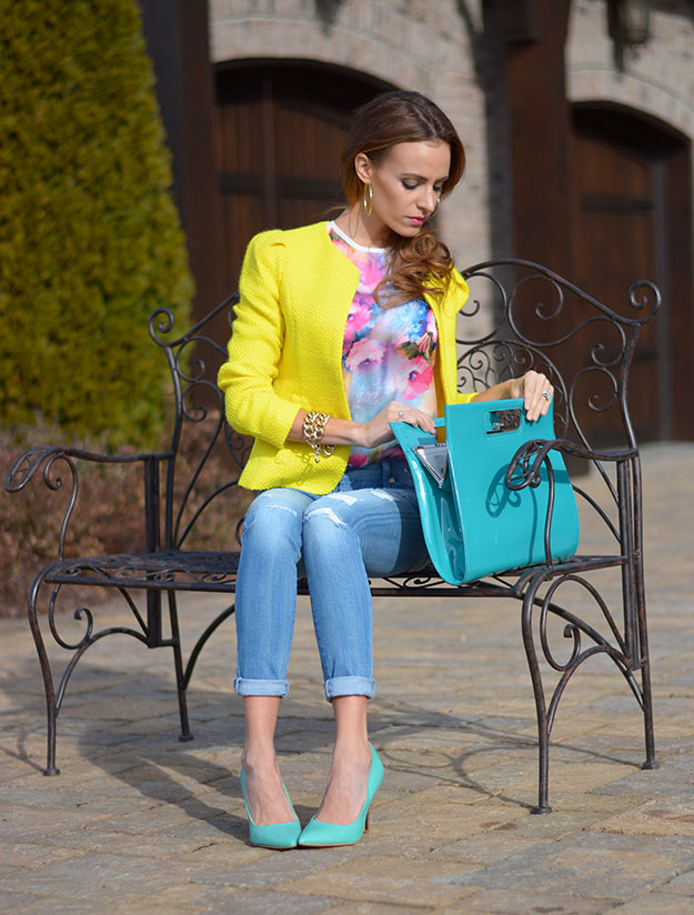 Teal and Yellow Outfit