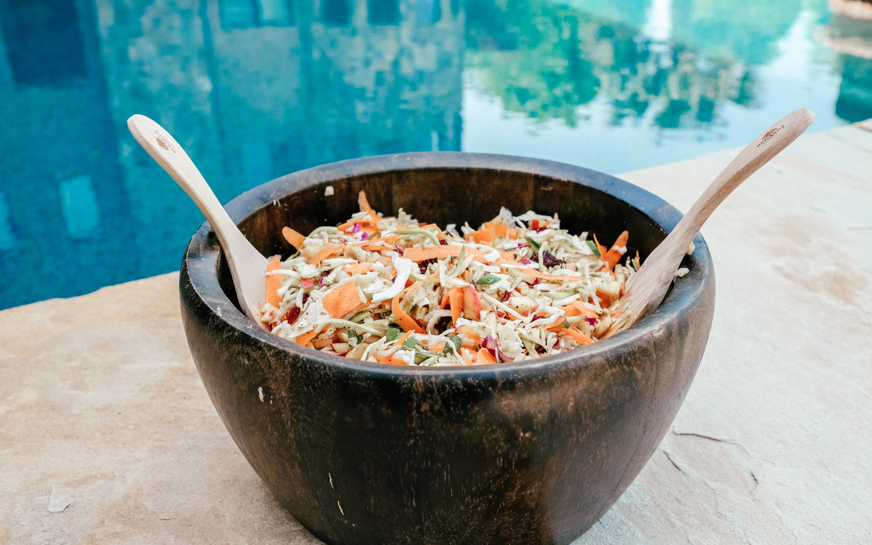 Healthy, Dairy Free Coleslaw for your Memorial Day Cookout